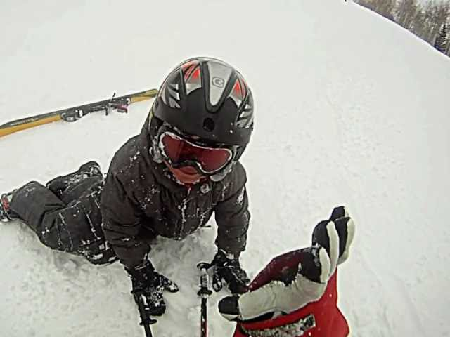 Speed skiing crash
